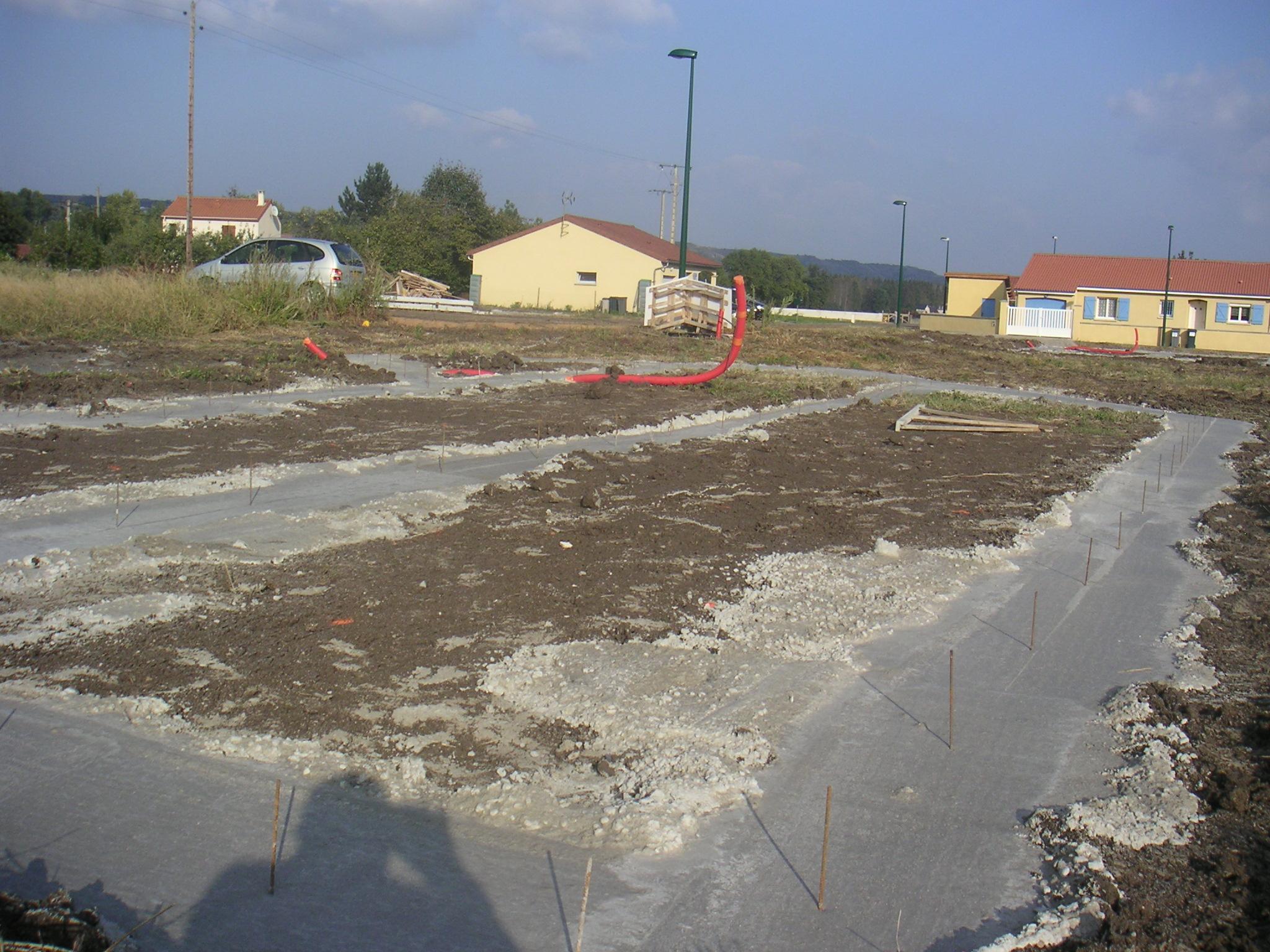 3 ouverture du chantier terrassement et fondation la for Terrassement et fondation